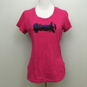 Patagonia Eat Local Otter Graphic Tee Pink Small
